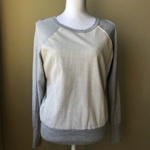 Banana Republic Tops - Banana Republic Faux Leather Cage Front Sweater